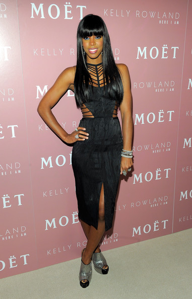 Kelly Rowland Cutout Dress [here i am,kelly rowland celebrate the launch of her new album,album,photo,eyewear,clothing,dress,shoulder,little black dress,fashion,footwear,fashion model,cocktail dress,joint,moet rose lounge,kelly rowland,top,the standard hotel,new york city,launch celebration]