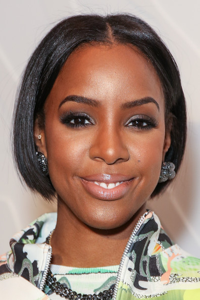 Kelly Rowland Bob [hair,face,eyebrow,hairstyle,black hair,forehead,chin,lip,beauty,skin,kelly rowland,front row,mercedes-benz fashion week,new york city,opening ceremony,fashion show]