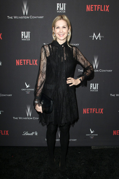 Kelly Rutherford Lace Dress