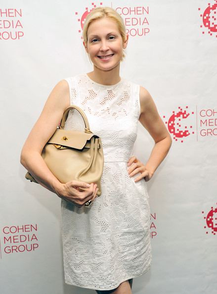 Kelly Rutherford Leather Hobo Bag