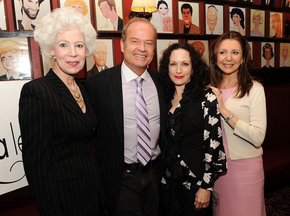 Kelsey Grammer Striped Tie [event,fashion,fun,suit,vernissage,premiere,tourism,art,jano herbosch,kelsey grammer,bebe neuwirth,donna murphy,nominations,drama league awards,nominations,sardi,new york city,drama league]