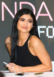 Kylie Jenner opted for a fuss-free straight 'do when she attended the launch of Kendall + Kylie at Forever New in Melbourne.