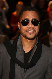Cuba Gooding Jr. wore classic shades to the Kenneth Cole runway show.