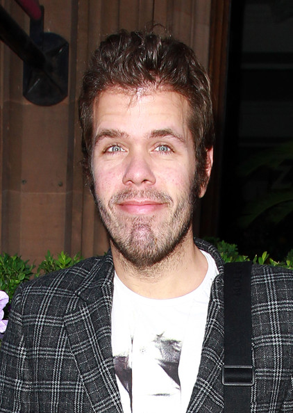 Perez Hilton channeled Elvis with this glossy pompadour at the launch of the Kensington Club.