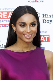 Ciara attended the Kensington Palace Summer Gala wearing her hair in a simple center-parted style.