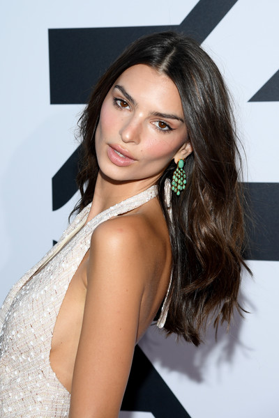 More Pics of Emily Ratajkowski Strappy Sandals (1 of 18) - Emily Ratajkowski Lookbook - StyleBistro [kerastase party,hair,hairstyle,beauty,long hair,eyebrow,black hair,brown hair,shoulder,lip,layered hair,paris,port debilly,france,emily ratajkowski]