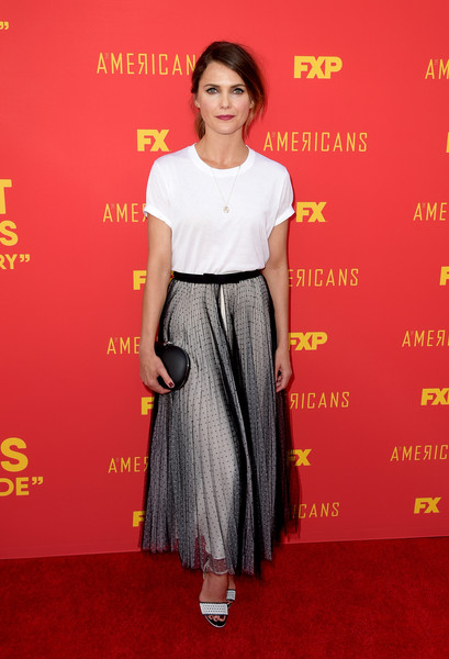 Keri Russell Long Skirt [the americans,red carpet,clothing,carpet,premiere,dress,flooring,fashion model,fashion,shoulder,waist,keri russell,series finale of fx,saban media center,los angeles,fx,for your consideration]
