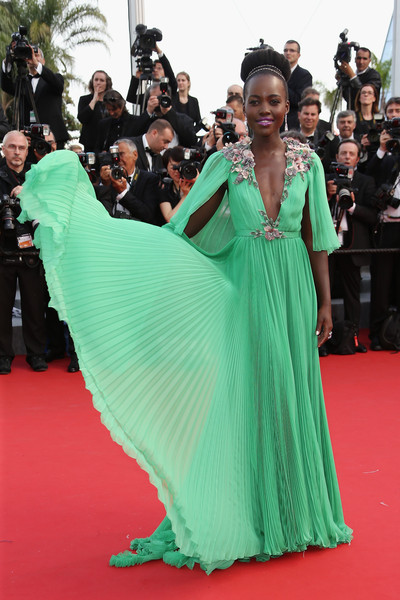 Lupita Nyong'o in Gucci at the 2015 Cannes Film Festival