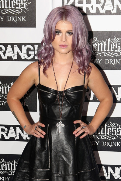 More Pics of Kelly Osbourne Leather Dress (1 of 9) - Kelly Osbourne Lookbook - StyleBistro