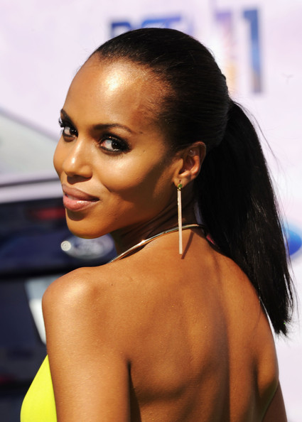 Kerry Washington Gold Dangle Earrings