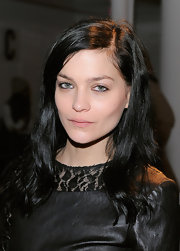 Leigh Lezark wore her dark layered tresses casually tousled with a sexy side part at the Kevork Kiledjian fall 2012 fashion show.