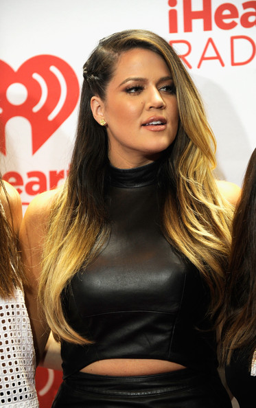 Khloe Kardashian Long Partially Braided
