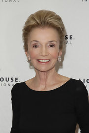 Lee Radziwill showed off her elegant french twist while attending the POSH Fashion Sale in New York City.