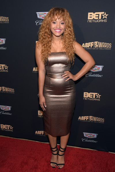 Kiersey Clemons Strappy Sandals [clothing,dress,strapless dress,cocktail dress,waist,carpet,shoulder,premiere,joint,hip,kiersey clemons,arrivals,abff awards,a celebration of hollywood,beverly hills,california,the beverly hilton hotel,abff awards: a celebration of hollywood]