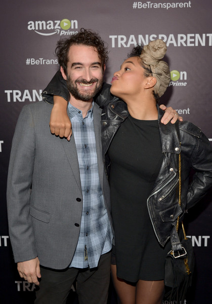 Kiersey Clemons Suede Shoulder Bag [hairstyle,fashion,event,interaction,premiere,muscle,outerwear,performance,long hair,eyewear,los angeles screening of amazon original series ``transparent,actors,kiersey clemons,jay duplass,emmy,los angeles,california,fyc,l,screening]