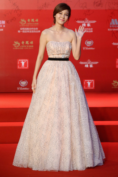 Kim Ha-Neul Strapless Dress