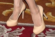 Ramona Singer wore a pair of nude platform pumps during New York Fashion Week.