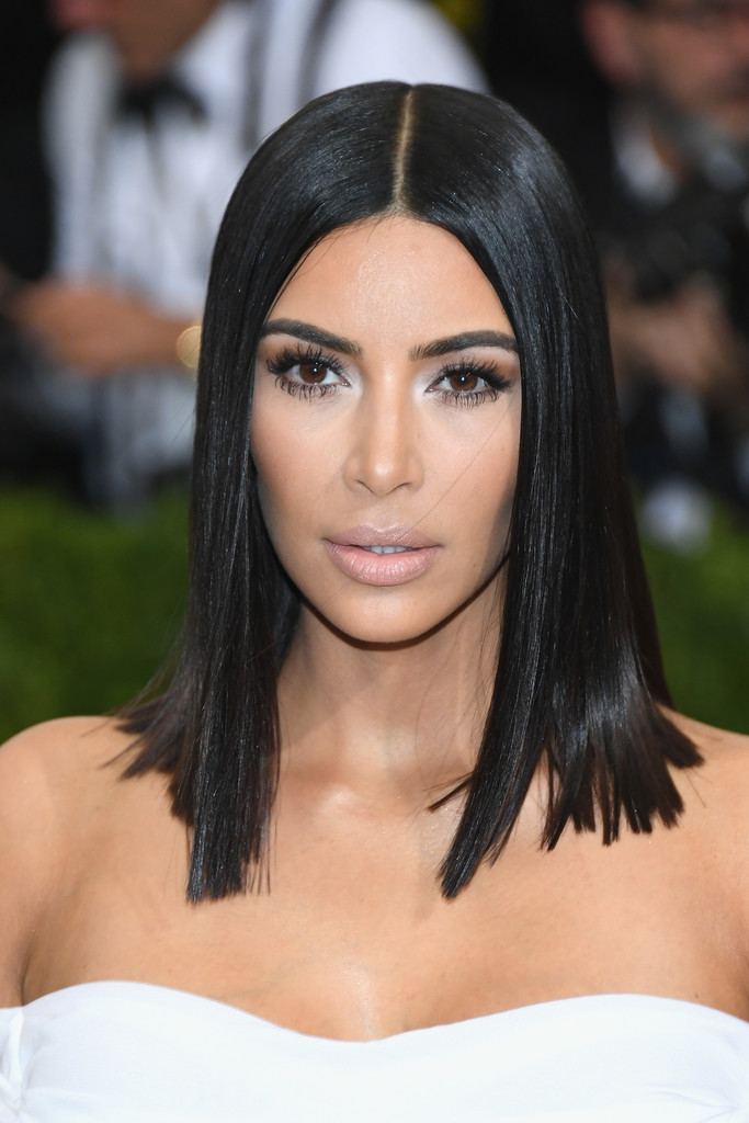 Kim Kardashian Medium Straight Cut Kim Kardashian Looks