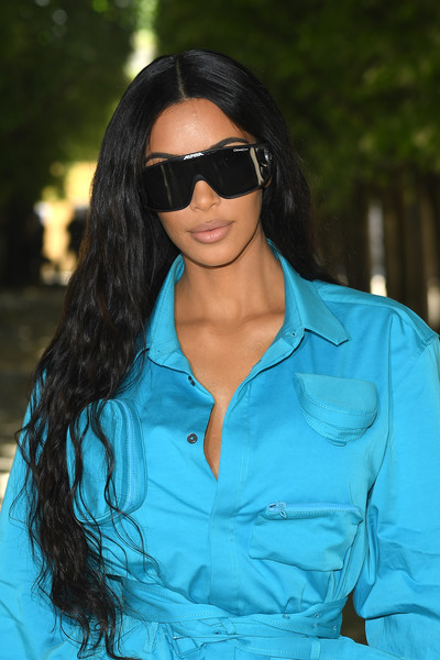 Kim Kardashian Athletic Shield Sunglasses