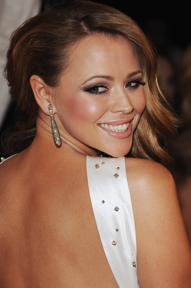 Kimberley Walsh Dangling Diamond Earrings