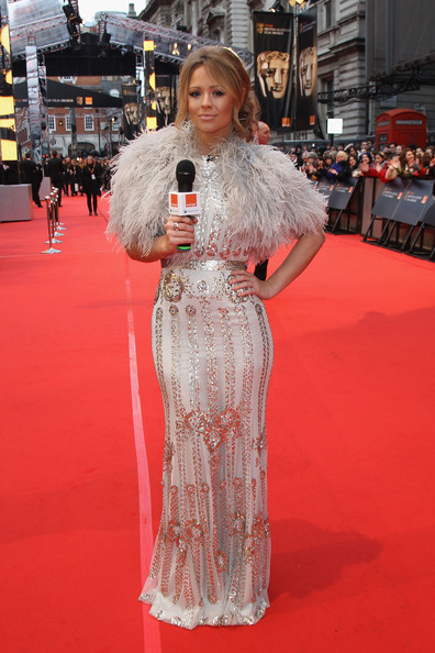 Kimberley Walsh Beaded Dress