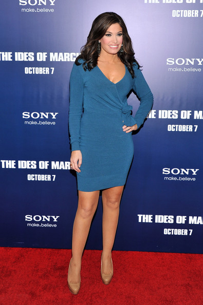 Kimberly Guilfoyle Platform Pumps [the ides of march,the ides of march,clothing,cobalt blue,dress,cocktail dress,premiere,carpet,red carpet,electric blue,fashion,footwear,inside arrivals,kimberly guilfoyle,new york,ziegfeld theater,premiere]