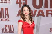 Kimberly Williams-Paisley Off-the-Shoulder Dress