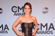 Kimberly Williams-Paisley Strapless Dress
