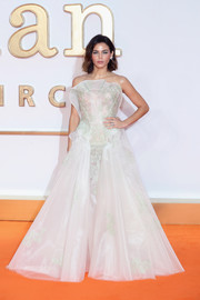 Jenna Dewan-Tatum was dressed to impress in a strapless white ball gown by Zac Posen at the world premiere of 'Kingsman: The Golden Circle.'