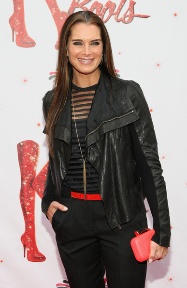 More Pics of Brooke Shields Leather Jacket (1 of 2) - Brooke Shields Lookbook - StyleBistro