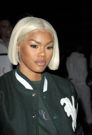 Teyana Taylor looked hip with her platinum-blonde bob at the Kith Sport fashion show.