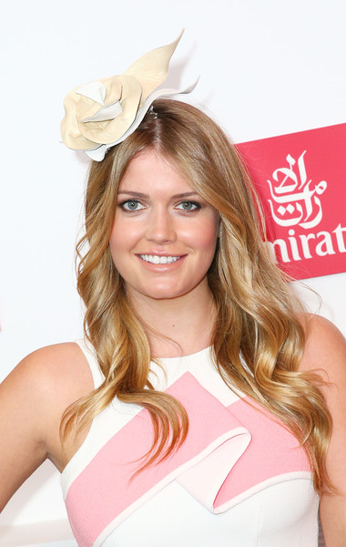 Kitty Spencer Long Wavy Cut [hair,blond,hairstyle,pink,beauty,long hair,lip,brown hair,headgear,costume accessory,kitty spencer,celebrities,family,hair,hairstyle,princess,hair coloring,pink,flemington racecourse,emirates marquee on stakes day,lady kitty spencer,princess,spencer family,flemington racecourse,milan fashion week,elle a,dolce gabbana,1990,hair coloring]