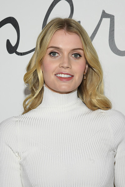 Kitty Spencer Long Wavy Cut [hair,face,blond,hairstyle,eyebrow,beauty,shoulder,lip,long hair,neck,schiaparelli,kitty spencer,front row,part,summer 2020,paris,schiaparelli haute couture spring,paris fashion week,show,haute couture spring,lady kitty spencer,celebrity,model,wedding of prince harry and meghan markle,fashion,people,image,livingly media,hello,photograph]