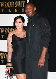 Vanessa Bryant wore a chic sheer-panel LBD to the hand and footprint ceremony of husband Kobe.