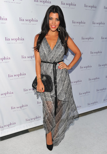 Kourtney Kardashian Print Dress [jewelry creations,clothing,fashion model,dress,fashion,hairstyle,fashion design,shoulder,long hair,waist,cocktail dress,lia sophia celebrates and unveils their latest jewerly creations at the sunset marquis,lia sophia,kourtney kardashian,tv personality,california,west hollywood,sunset marquis hotel,unveiling]