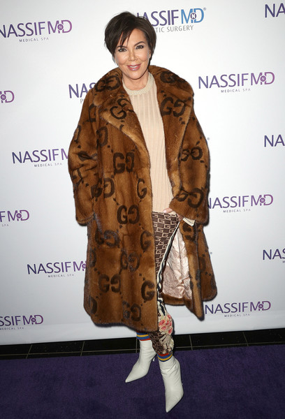 Kris Jenner Ankle Boots [fur clothing,fur,coat,fashion model,flooring,fashion,textile,outerwear,material,carpet,paul nassif unveils his new medical spa with grand opening,paul nassif,kris jenner,spa,ribbon ceremony,ribbon ceremony,grand opening,beverly hills,california]