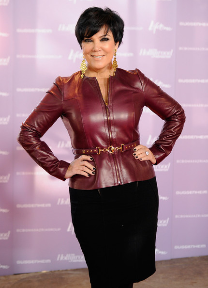 More Angles of Kris Jenner Leather Jacket