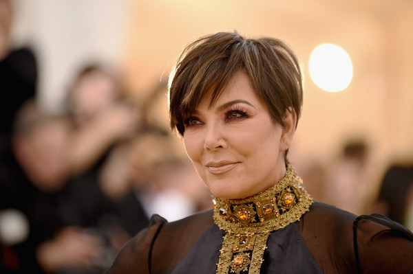 Kris Jenner Messy Cut [heavenly bodies: fashion the catholic imagination costume institute gala - arrivals,hair,beauty,lady,fashion,fashion accessory,smile,jewellery,event,photography,neck,new york city,metropolitan museum of art,kris jenner]
