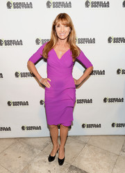 Jane Seymour kept it classic in an electric-purple faux-wrap dress during the Gorilla Doctors of Africa benefit.