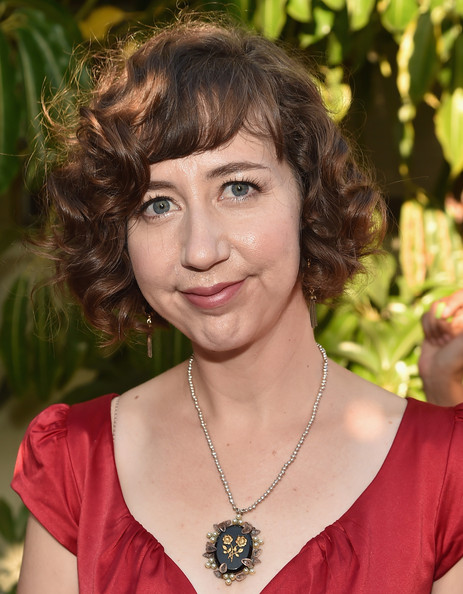 Kristen Schaal Curled Out Bob [the hotwives of orlando,hair,face,hairstyle,eyebrow,chin,brown hair,lip,layered hair,ringlet,makeover,kristen schaal,hulu,california,los angeles,sherry lansing theatre,red carpet,paramount studios,premiere,premiere]