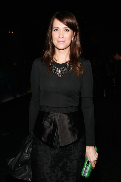 Kristen Wiig Frame Clutch [clothing,dress,fashion model,hairstyle,fashion,cocktail dress,little black dress,long hair,brown hair,neck,kristen wiig,american museum of natural history,new york city,american museum of natural history gala,gala]