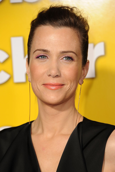 Kristen Wiig Lipgloss [hair,face,eyebrow,hairstyle,yellow,forehead,beauty,chin,lip,premiere,arrivals,kristen wiig,paul,grauman,california,hollywood,chinese theater,universal pictures,premiere,premiere]
