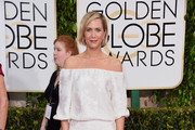 Kristen Wiig Off-the-Shoulder Dress