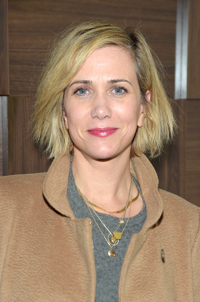 Kristen Wiig Bob [the diary of a teenage girl,the diary of a teenage girl cast party,hair,blond,face,hairstyle,eyebrow,lip,chin,layered hair,long hair,brown hair,kristen wiig,grey goose blue door,park city,utah,grey goose,sundance - 2015,party]