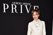 Kristin Scott Thomas Leather Pants