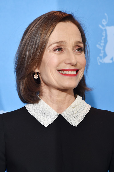 Kristin Scott Thomas Bob [hair,face,chin,hairstyle,lip,official,white-collar worker,neck,smile,kristin scott thomas,grand hyatt hotel,berlin,germany,the party,the party press conference,photo call,berlinale international film festival,berlinale international film festival berlin]