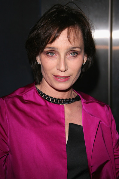 Kristin Scott Thomas Bob [red carpet,hair,face,pink,hairstyle,eyebrow,beauty,lip,fashion,forehead,magenta,kristin scott thomas,globes de cristal 2010 awards,paris,france,le lido,globe de cristal,ceremony]