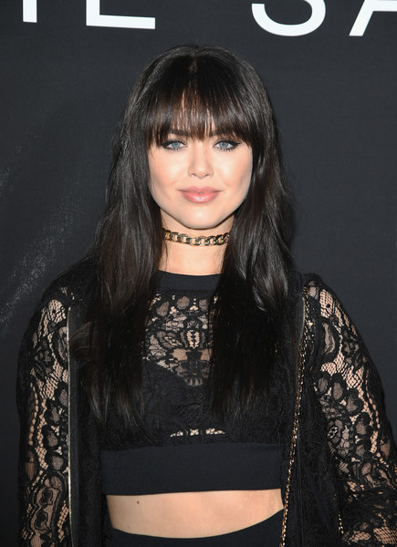Kristina Bazan Long Wavy Cut with Bangs