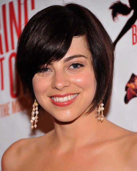 Krysta Rodriguez Bob [bring it on: the musical,hair,face,hairstyle,eyebrow,chin,bangs,lip,beauty,bob cut,black hair,krysta rodriguez,broadway,new york city,st. james theatre,opening night - arrivals,broadway opening night]