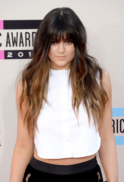 Kylie Jenner Long Wavy Cut with Bangs